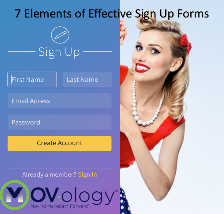 7 elements of effective sign up forms